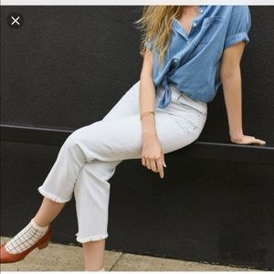 NWT MADEWELL TAPERED WIDE LEG LIGHT BLUE JEANS